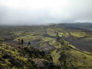 The Laki volcano in Iceland.