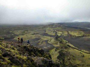 The Laki volcano in Iceland.