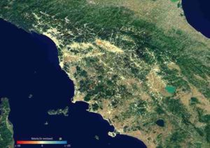 Subsidence in Tuscany