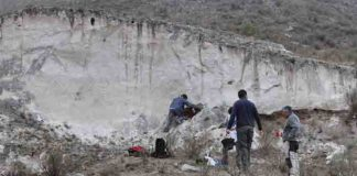 Tafí del Valle (Tucumán, Argentina)on the ash deposits originated in the Cerro Blanco eruption