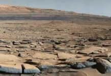 "A view from the ""Kimberley"" formation on Mars taken by NASA's Curiosity rover."