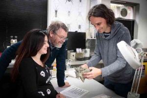 Canterbury Museum researcher Vanesa De Pietri (L) said the discovery reinforces the theory that penguins attained great size early in their evolution