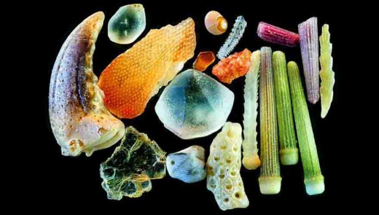 Magnified sand grains Sand that is magnified up to 300 times