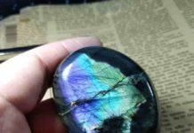 Natural crystal Labradorite Purple Moonstone