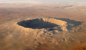 Meteor Crater in Arizona is 4,000 feet wide and almost 600 feet deep. Credit: (iStockphoto)