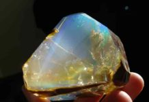 Exceptional and very rare Oregon opals with precious color play.