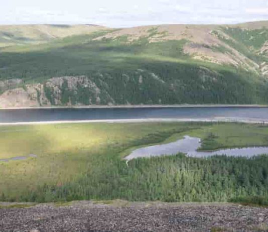The Siberian Traps, the scene of ancient volcanic eruptions 252 million years ago that led to a massive extinction of life on Earth. CCNY researchers Ellen Gales and Benjamin Black obtained samples for their study there.