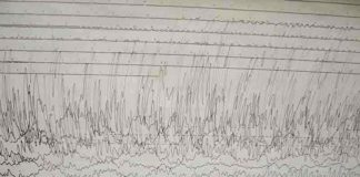 A seismogram of 2011 Tōhoku earthquake and tsunami recorded at Weston Observatory in Massachusetts, USA. Credit: Image from Wikimedia Commons.