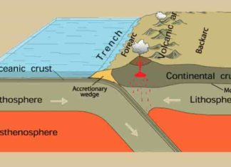 Subduction zones occur where one tectonic plate dives under another. New computer modeling by Magali Billen, professor of earth and planetary sciences at UC Davis, shows why earthquakes on these sinking plates cluster at certain depths and could give insight into processes deep in the Earth. (U.S. Geological Survey)