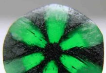A Trapiche emerald from Muzo Mine, Colombia. Credit: Luciana Barbosa/Wikipedia