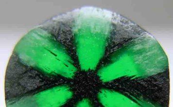 A Trapiche emerald from Muzo Mine, Colombia. Credit: Luciana Barbosa/Wikipedia