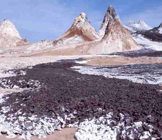 Ol Doinyo Lengai volcano in Tanzania, a source of carbonate-rich magma.