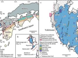 Location and geological map of Yukinoura district, Saikai City, Nagasaki Prefecture, Japan. Credit: Professor Tadao Nishiyama