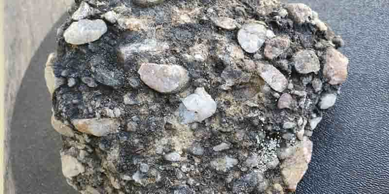A sample of pebbly rock that U of A researchers took from an outcrop in Nunavut. The rock was found to contain both gold and diamonds—a rare combination similar to that found in the world's richest gold deposit in South Africa. (Photo: Supplied)