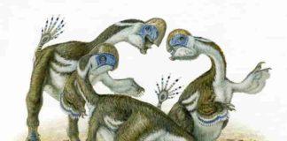 Artist's impression of Oksoko avarsan dinosaurs (credit: Michael Skrepnick)