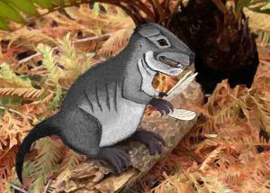A Photoshop-created image of how Kataigidodon venetus may have looked, illustrated by Ben Kligman, a Ph.D. student in the Department of Geosciences and Hannah R. Kligman. Credit: Virginia Tech