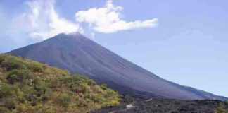 Scientists identified flank instability at Pacaya, an active volcano in Guatemala. Credit: Kirsten Stephens/Penn State