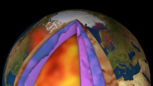 Despite ESA's GOCE mission ending over seven years ago, scientists continue to use this remarkable satellite's gravity data to delve deep and unearth secrets about our planet. Recent research shows how scientists have combined GOCE data with measurements taken at the surface to generate a new model of Earth's crust and upper mantle. This is the first time such a model has been created this way – and it is shedding new light on the processes of plate tectonics. The new model produced in ESA's 3D Earth study shows for the first time how dissimilar the sub-lithospheric mantle is beneath different oceans, and provides insight as to how the morphology and spreading rates of mid-oceanic ridges may be connected with the deep chemical and thermal structure. Credit: ESA/Planetary Visions)