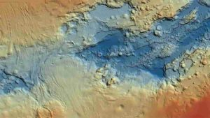 Bathymetric chart of a part of the Red Sea. Source GEOMAR.