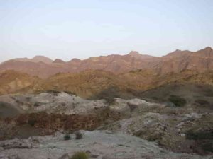 This study site was used by researchers to examine a portion of the Oman–United Arab Emirates ophiolite's metamorphic sole. Credit: Tyler Ambrose