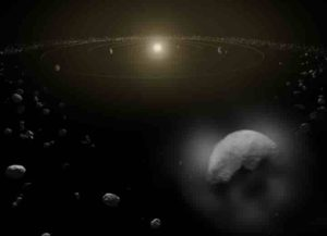 The asteroid belt between Jupiter and Mars is the main source of extraterrestrial material that lands on Earth. (Illustration: ESA/ATG Medialab)