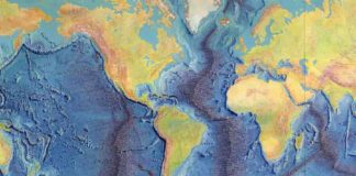 A map of the World Ocean Floor. Credit: Library of Congress, Geography and Map Division