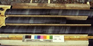 Core samples for Oceanic Anoxic Event 1a. Credit: Elisabetta Erba.