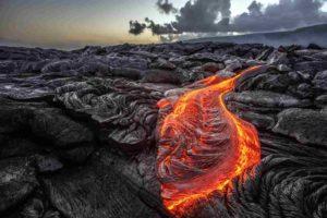 Molten lava from a Hawaiian volcano. Image: Willyam/Adobe